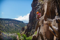 Rock Climbing Photo: Kid crusher. My daugher high stepping up Path of C...