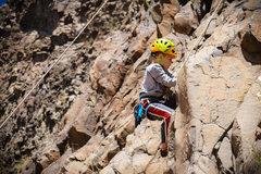 Rock Climbing Photo: Kid crusher my son pulling hard on POC