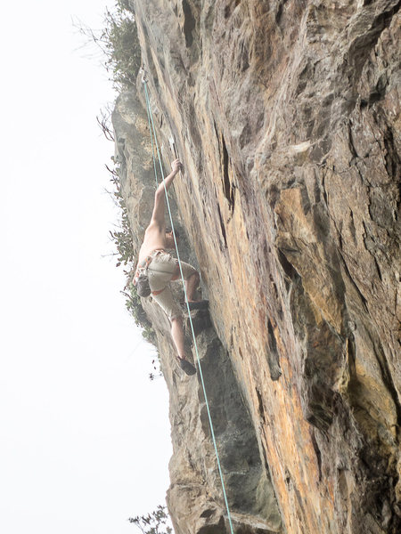 Rock Climbing Photo: The upper crux of Doozy is one of my favorite sequ...