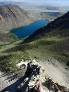 Rock Climbing Photo: The knife-edge ridge of pitches three and four. Re...