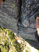 Rock Climbing Photo: Looking down Telegraph Crack