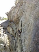 Rock Climbing Photo: Just under the crux, but the real gem is the first...