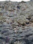 Rock Climbing Photo: H Morrison leading