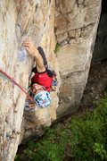 Rock Climbing Photo: Nils pulling the last few moves of the hand traver...