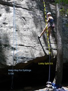 Rock Climbing Photo: Lickty Split 5.9 on R. Make way for Dyklings 5.10d...