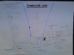 MAP of Summersville Lake area