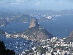 Rock Climbing Photo: Pao de Acucar from Corcovado