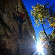 Rock Climbing Photo: Gabe Collins low on Grassy Knoll.
