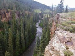 Rock Climbing Photo: Looking down from the first overlook.  Beautiful p...