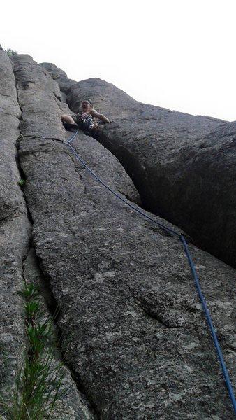 Rock Climbing Photo: No big gear, no problem.