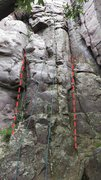 Rock Climbing Photo: Minnie Mouse directly left of the rope, Minnie Mum...