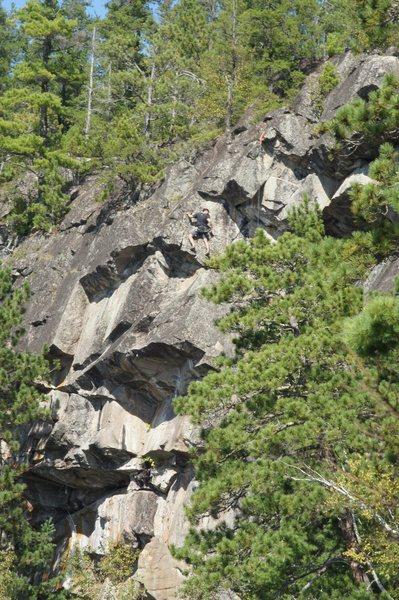 Rock Climbing Photo: Jeff on route