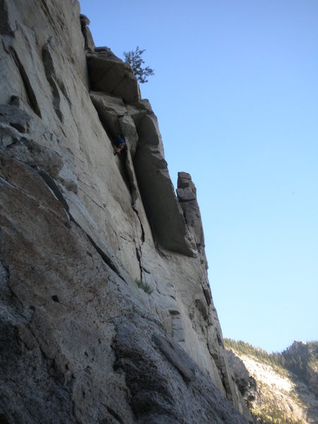 Rock Climbing Photo: Out of the death flake