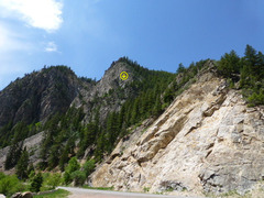 Rock Climbing Photo: Location of Inertia Wall from CO Hwy 133.