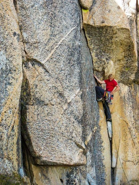 Rock Climbing Photo: Eric Walden on Voodoo Child Voodoo Dome Shuteye Ri...