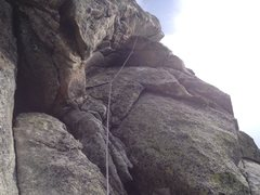 Rock Climbing Photo: Great way to finish with a easy but spectacular fi...