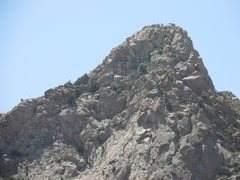 Rock Climbing Photo: Spoiled by Shade is located on the left end of thi...