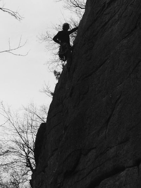 Rock Climbing Photo: Ken's Crack, Gunk, NY