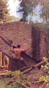 Rock Climbing Photo: Big man on campus, V4