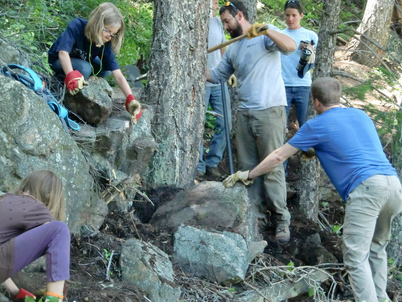 Trail work on June 27th, 2015.  Thanks to everyone who made it happen!