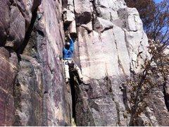 Rock Climbing Photo: Mellow lead of Condor Corner