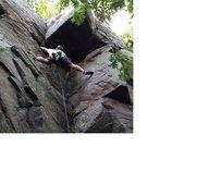 Rock Climbing Photo: Stemming on Bloodshed