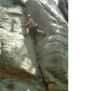 Rock Climbing Photo: Almost to the crux