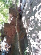 Rock Climbing Photo: Near the top of missing piece