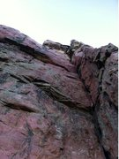 Rock Climbing Photo: Near the top on this bluemounds classic