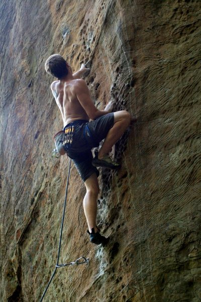 Rock Climbing Photo: Good holds after first crux
