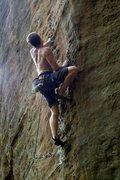 Rock Climbing Photo: Good holds after first crux