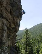 Rock Climbing Photo: The airy finish.