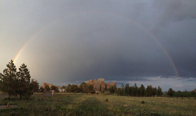 Rainbow over the Potato Chip.