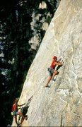 Rock Climbing Photo: Bob Gaines and Tommy Romero, 1995.