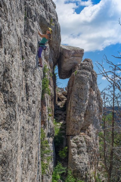 """Liz Lightner on the first ascent of """"Good Hearted Woman."""""""