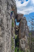 "Rock Climbing Photo: Liz Lightner on the first ascent of ""Good Hea..."