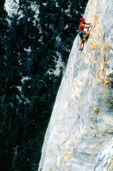 Bob Gaines leading Crucifix, 1995.<br> <br> Photo by Sam Roberts