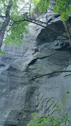 Rock Climbing Photo: Nick on the TR of Green Sheen. One of the better p...
