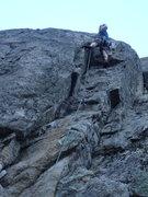 Rock Climbing Photo: Climber on Fe-line