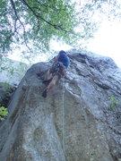 Rock Climbing Photo: Climber starting up the Narrows Arete
