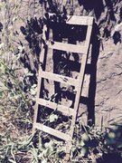 Rock Climbing Photo: A mysterious ladder at the base of the wall.