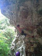 Rock Climbing Photo: Past roof