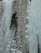 Rock Climbing Photo: Lead of Ottawa canyon during a fat year, both pill...