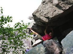 Rock Climbing Photo: Start beta.  Looks like I have my hands opposite o...