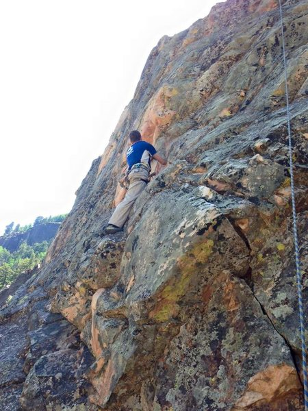 Rock Climbing Photo: Prince Charming starts at the obvious crack and tr...
