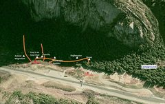 Rock Climbing Photo: Google Earth photo of the Stawamus Chief and the G...