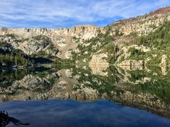 Rock Climbing Photo: Crystal Lake, early on the morning on the way to C...
