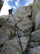 Rock Climbing Photo: Will in the Crystal Corridor on the North Arete of...