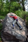 Rock Climbing Photo: Starting left with static move, shifting right and...