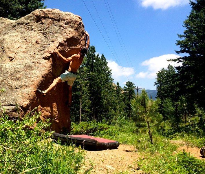 Rock Climbing Photo: Larry Nebo crushes Bulge!  Photo by Marty.